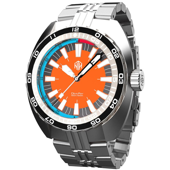 NTH DevilRay 500-Meter Automatic Dive Watch with an AR Sapphire Crystal #WW-NTH-DRON
