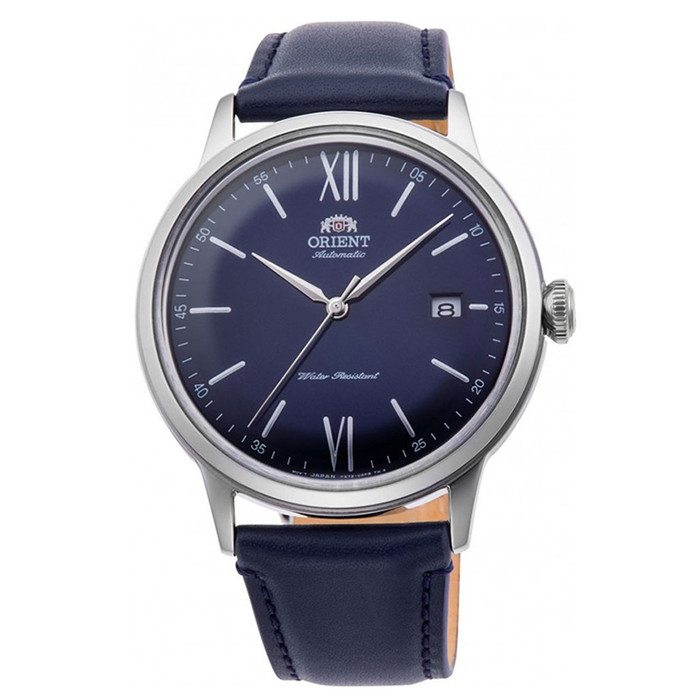 Orient Automatic Dress Watch with Blue Dial and Leather Strap #RA-AC0021L10B