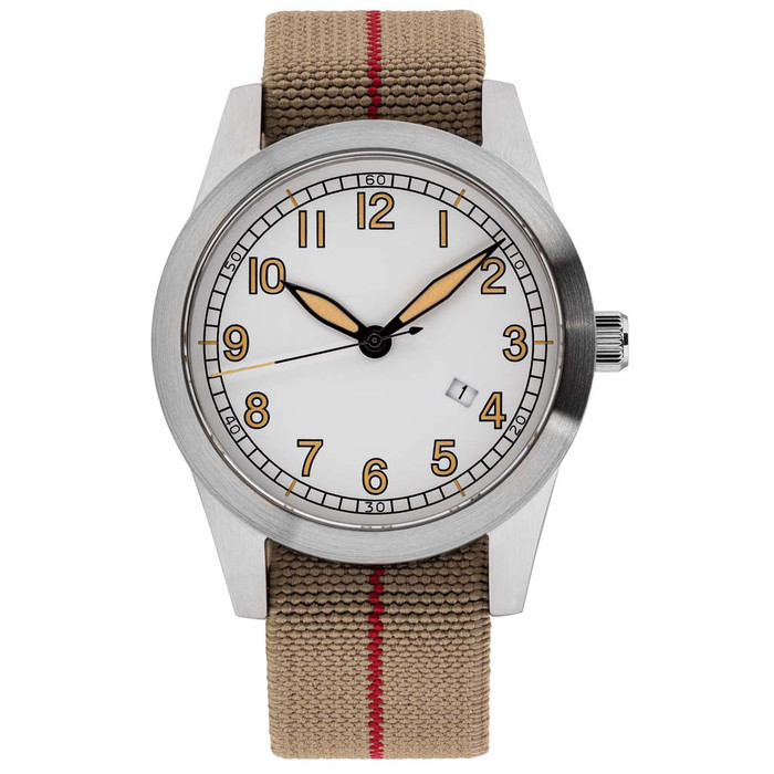 Islander USA Assembled Ameriquartz Field Watch with 40mm Stainless Steel Case and AR Sapphire Crystal #ISL-76