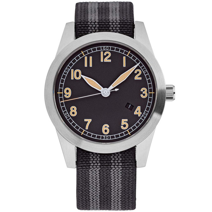Islander USA Assembled Ameriquartz Field Watch with 40mm Stainless Steel Case and AR Sapphire Crystal #ISL-77