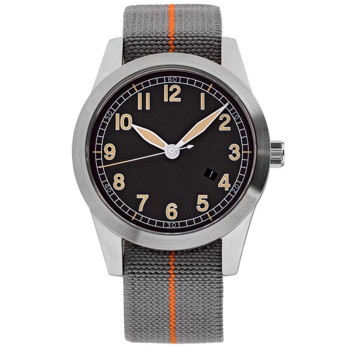 Islander USA Assembled Ameriquartz Field Watch with 40mm Stainless Steel Case and AR Sapphire Crystal #ISL-78