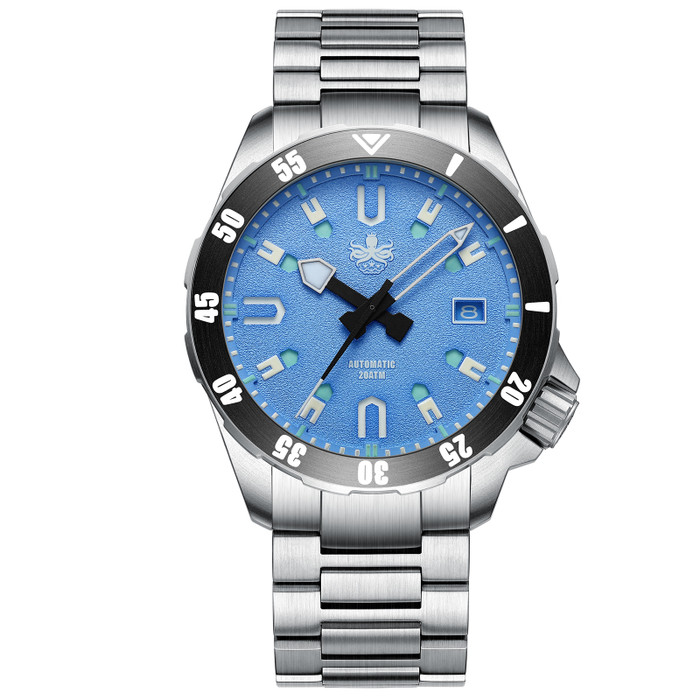 PHOIBOS Apollo Titanium 200-Meter Automatic Dive Watch with AR Sapphire Crystal #PY031B