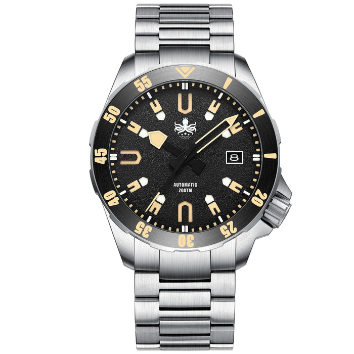 PHOIBOS Apollo Titanium 200-Meter Automatic Dive Watch with AR Sapphire Crystal #PY031D