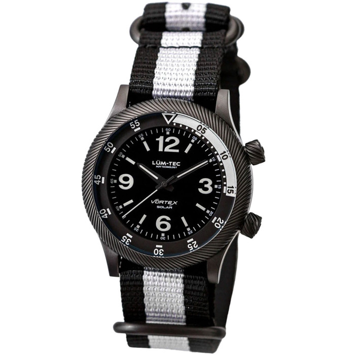 Lum-Tec 42mm Solar-Powered Military Watch with Curved DD Sapphire Crystal #Vortex-D1