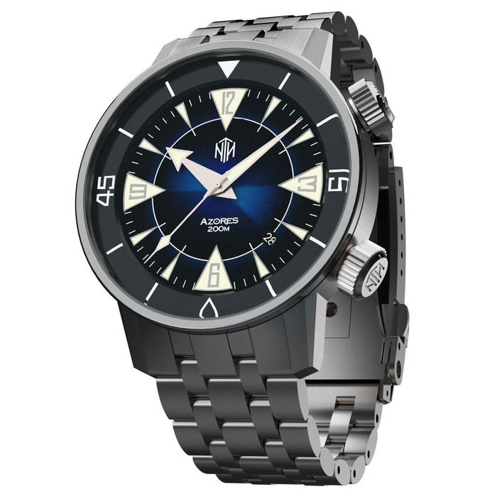 NTH Azores 200-Meter Hi-Beat Automatic Dive Watch with a DD AR Sapphire Crystal #WW-NTH-TZBD