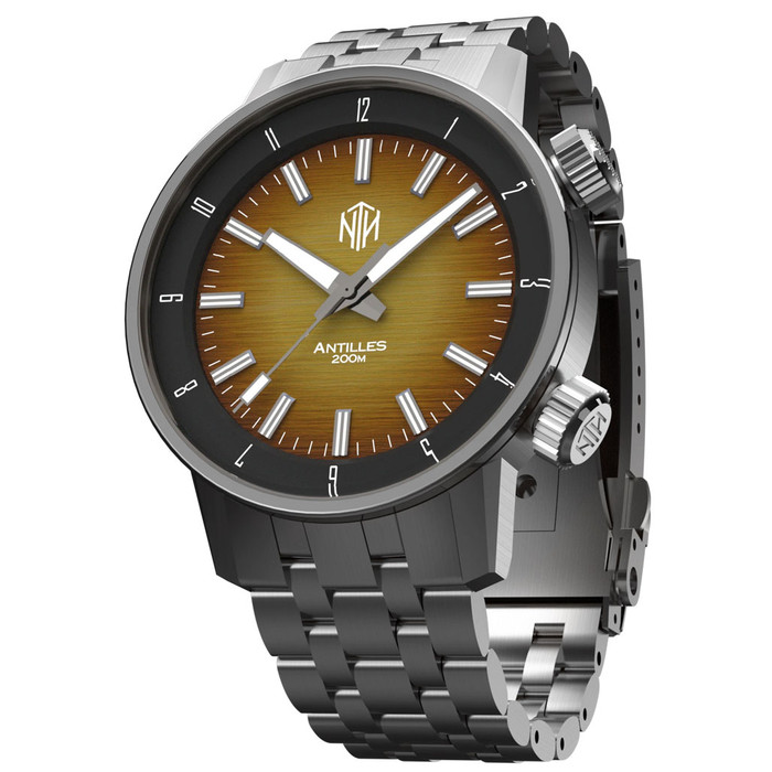 NTH Antilles  200-Meter Hi-Beat Automatic Dive Watch with a DD AR Sapphire Crystal #WW-NTH-TNCN