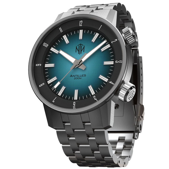 NTH Antilles  200-Meter Hi-Beat Automatic Dive Watch with a DD AR Sapphire Crystal #WW-NTH-TNHN