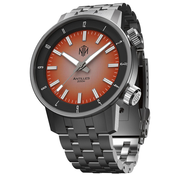 NTH Antilles  200-Meter Hi-Beat Automatic Dive Watch with a DD AR Sapphire Crystal #WW-NTH-TNRN