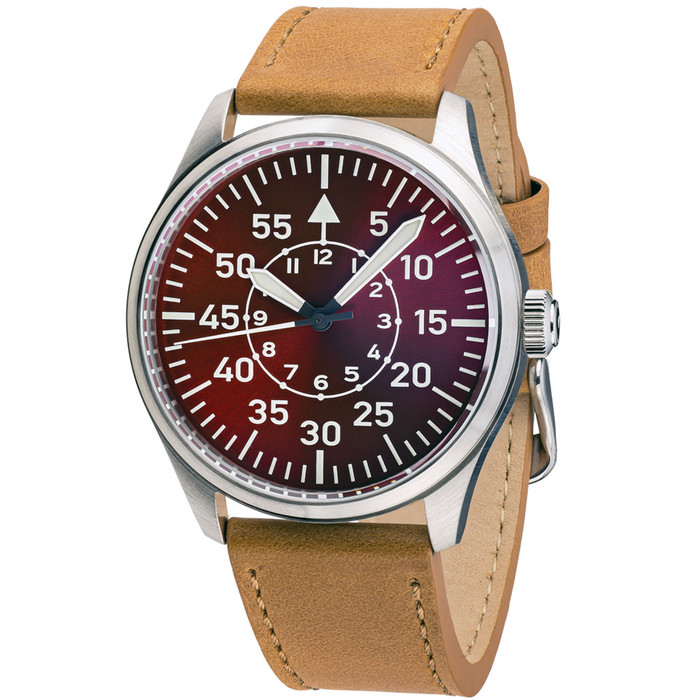 Islander Automatic Aviator Pilot Watch with Leather Strap and an Anti-Reflective Sapphire Crystal #ISL-99