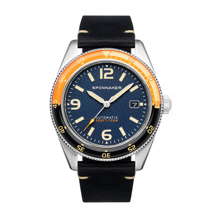 Spinnaker Fleuss Sunset Orange Automatic Vintage Style Sports Watch with 43mm Case #SP-5055-0D
