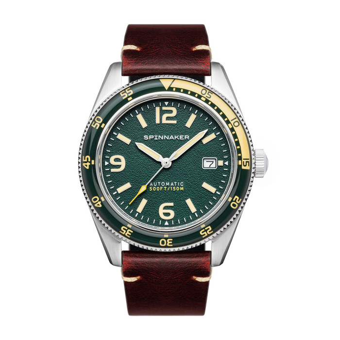 Spinnaker Fleuss Lagoon Green Automatic Vintage Style Sports Watch with 43mm Case SP-5055-0C