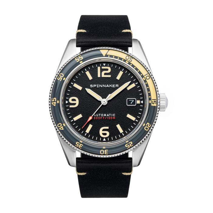 Spinnaker Fleuss Sand Grey Automatic Vintage Style Sports Watch with 43mm Case #SP-5055-0B