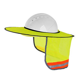 High Visibility Full Brim Neck Sun Protector for Hard Hat