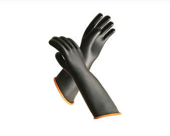 "18""  Heavy Duty Hand Safety Rubber Gloves"
