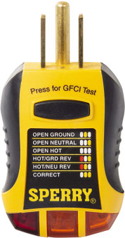 Sperry Instrument GFCI Outlet Tester