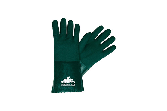 MCR Safety® Memphis™ Premium Large Green Double Dipped Gloves