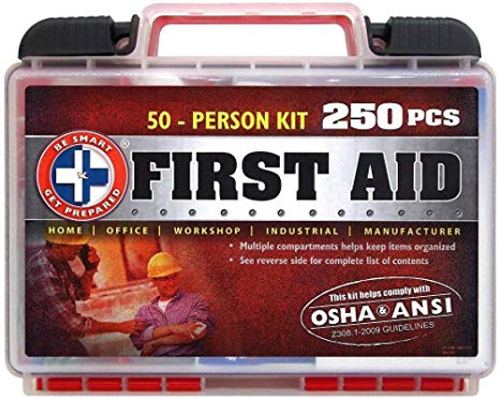 50 Person First Aid All Purpose Kit 250 PCS