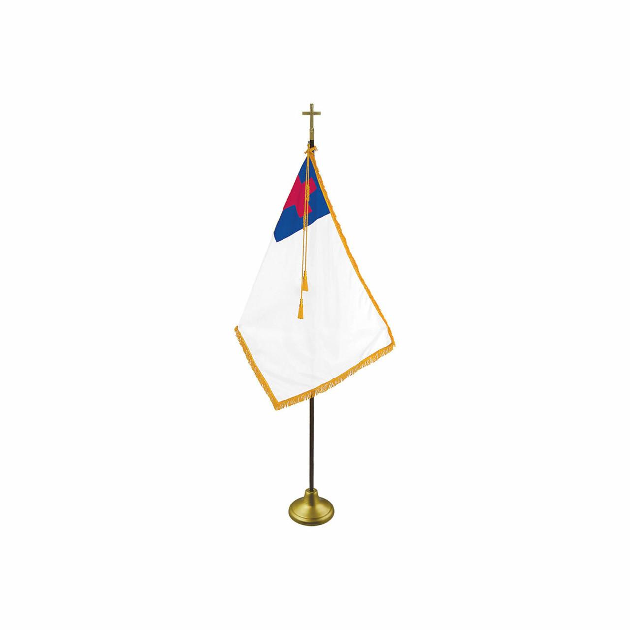 Indoor Flagpole Set - Religious