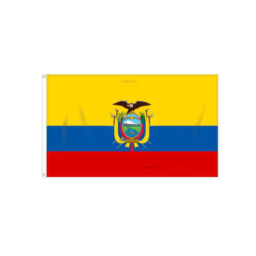Ecuador W/Seal Flag
