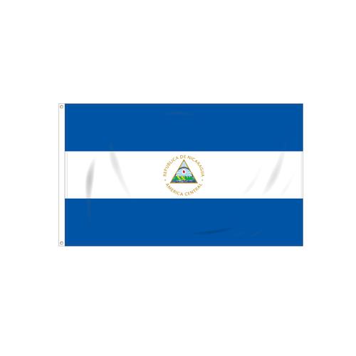 Nicaragua with Seal Flag