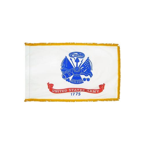 Military Flag with Pole Hem and Fringe