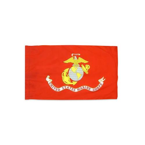 Marines Flag with Pole Hem