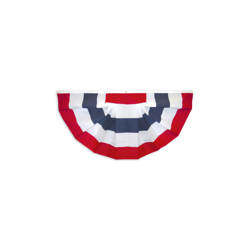 USA Pleated Fan without Stars