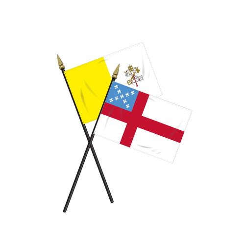 Mounted Religious Flag