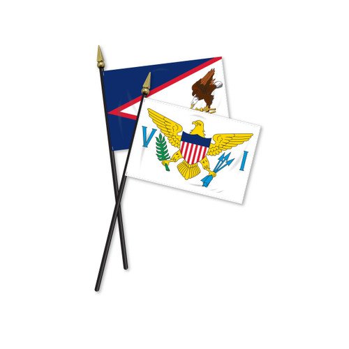 Mounted Territorial Flags