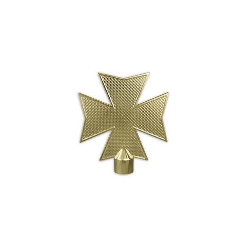 Brass plated gold metal indoor Maltese Cross