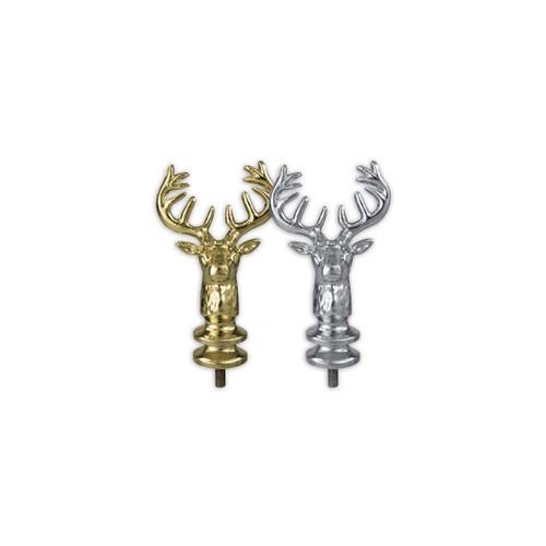 Metal Elk Head Ornament