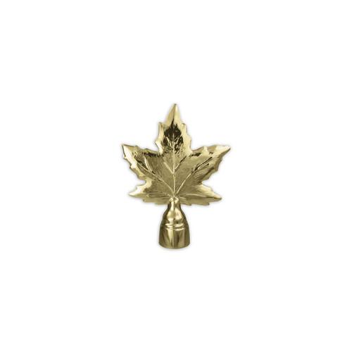 Maple Leaf Metal pole ornament