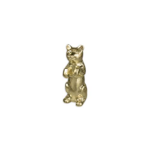 Gold Bear Pole Ornament