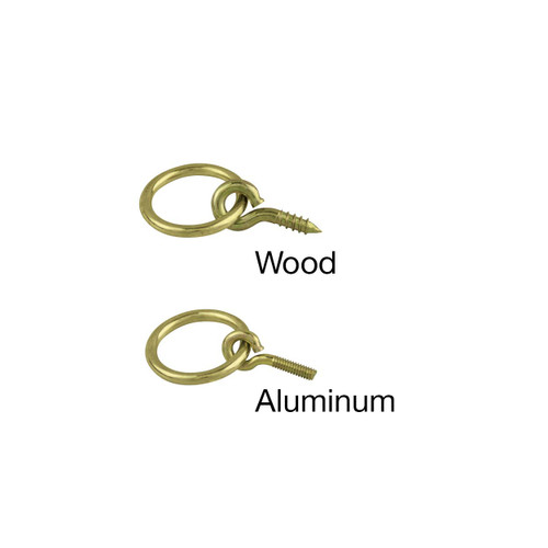 Cord & tassel Rings for aluminum and wood poles.