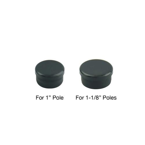 Black Plastic Bottom Plugs for Aluminum Poles