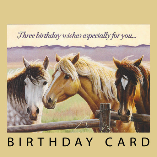 THREE BIRTHDAY WISHES ESPECIALLY FOR YOU! BIRTHDAY CARD