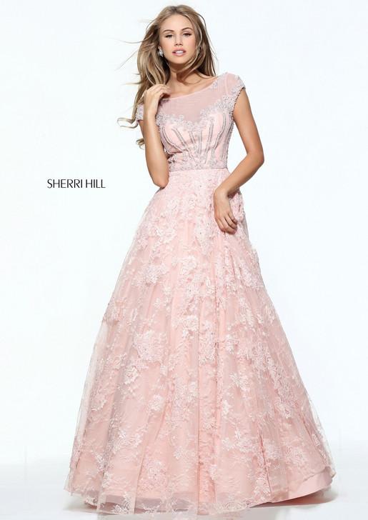 Sherri Hill 51010 Lace Ballgown Dress