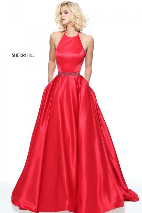 Sherri Hill 51036 Satin Ballgown Dress