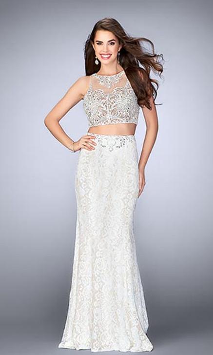 Gigi by La Femme 24418 Two Piece Lace Dress