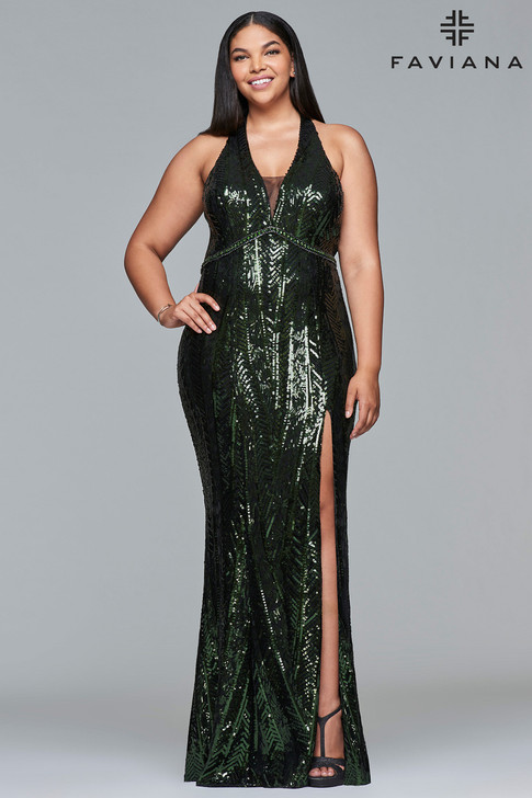 Faviana 9430 Plus Size Sequin Dress