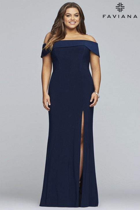 Faviana 9441 Plus Size Jersey Dress
