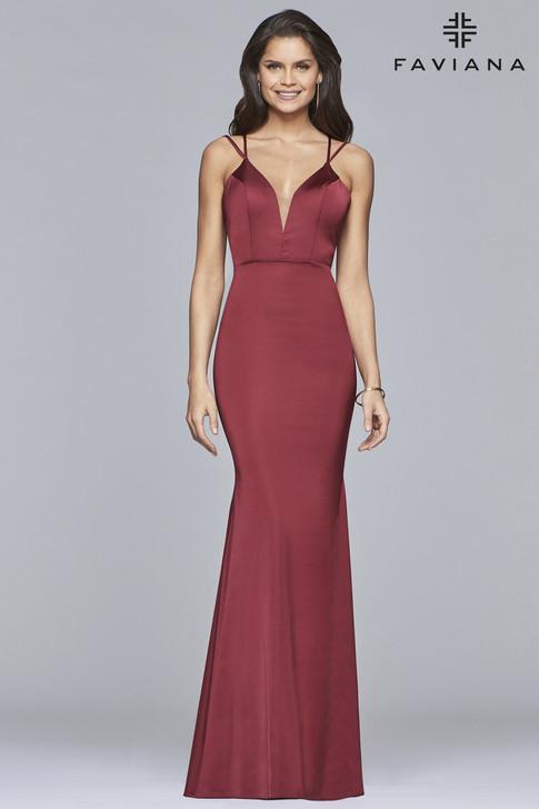 Faviana S10012 Matte Satin Dress
