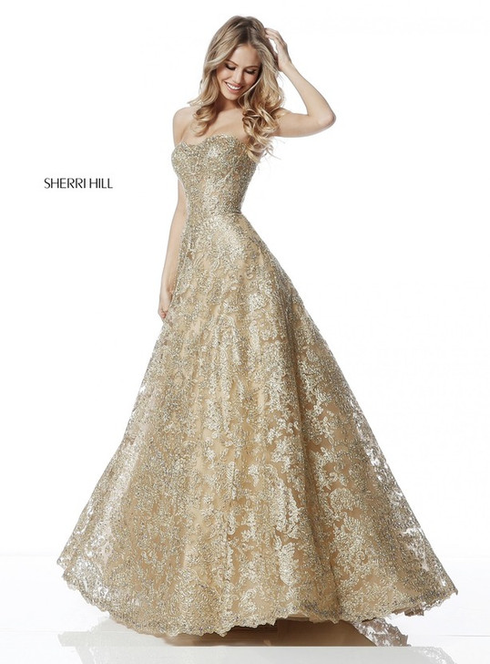 Sherri Hill 51572 Lace Ballgown Dress