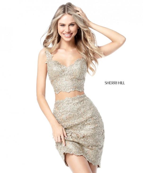 Sherri Hill 51522 Two Piece Lace Dress