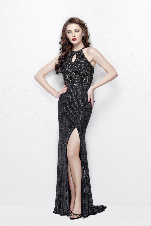 Primavera 3013 Beaded Prom Dress