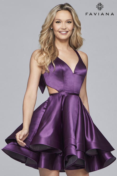 Faviana S10161 Satin Dress