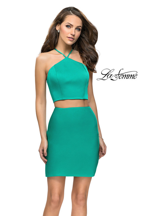 La Femme 26630 Two Piece Simple Homecoming Dress