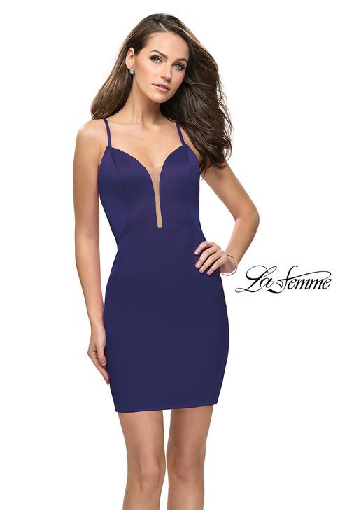 La Femme 26638 Simple Short Dress