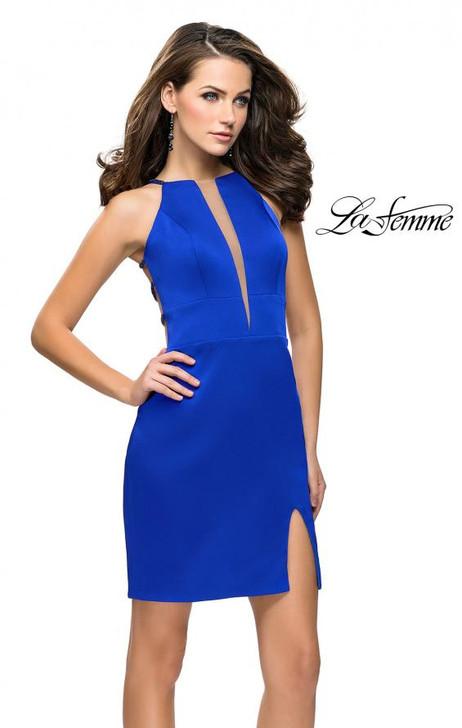La Femme 26657 Simple Dress