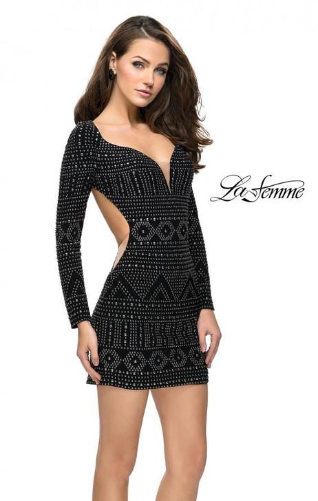 La Femme 26672 Studded Dress